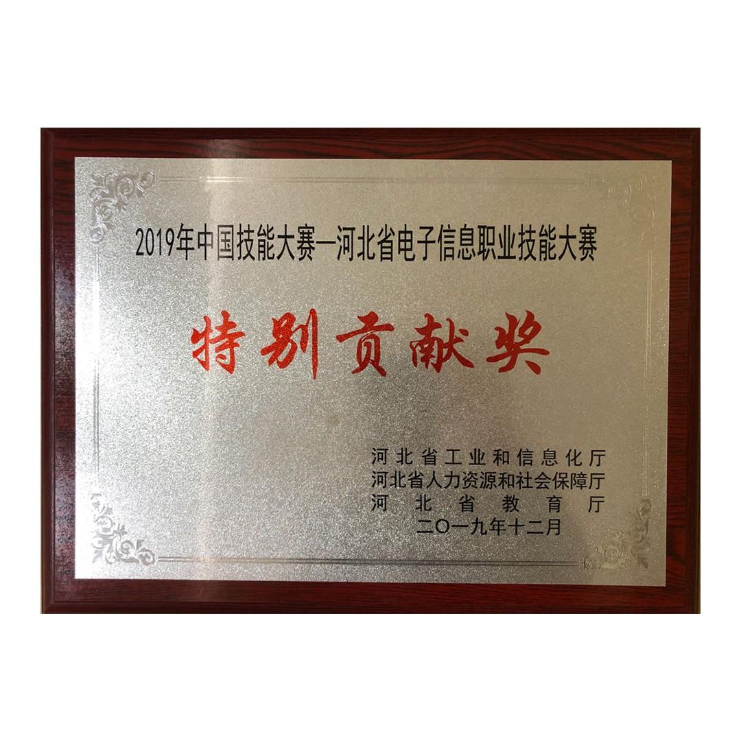 河北省电子信息职业技能大赛特别贡献奖