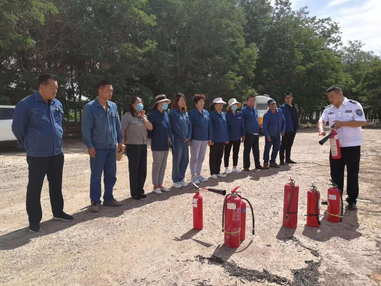 酒泉分中心为国网金昌市金川区供电公司开展2020年消防培训及灭火演练