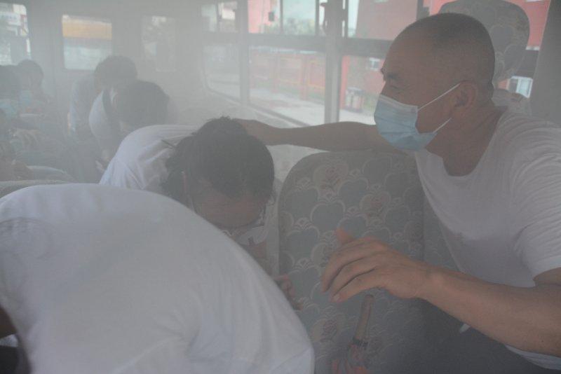 太原分中心为河曲县教育系统开展消防演习