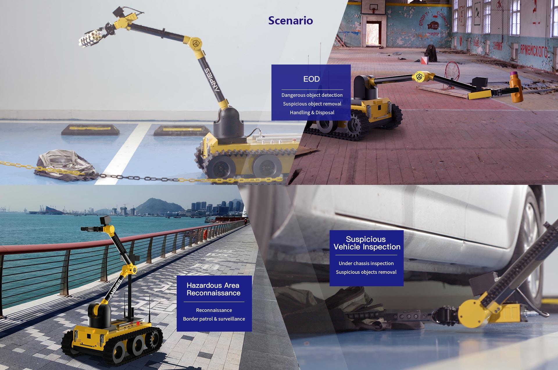 Short-track EOD Robot Tracker IIIS
