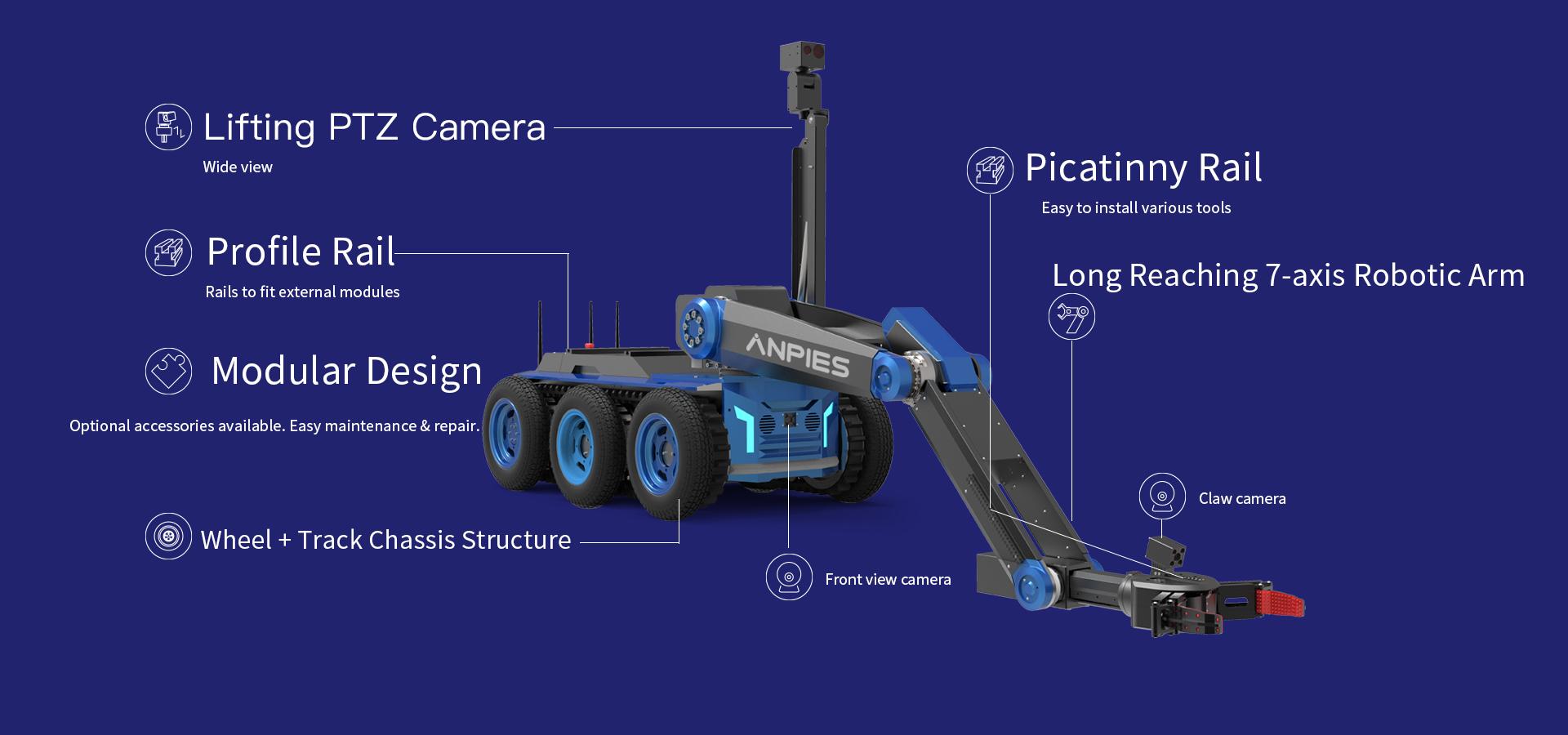 Large and medium-sized EOD robot MR-5