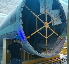 Wind blade 3D inspection