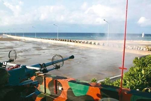 台军在太平岛演习:火炮射程仅7公里打不到周边岛屿