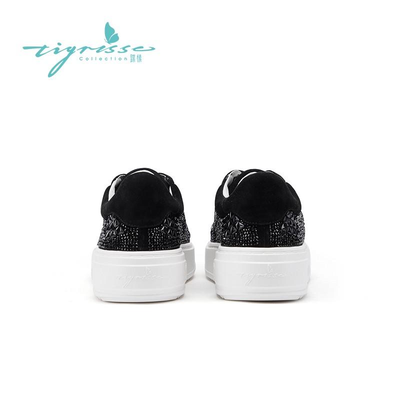 轻便水晶鞋厚底舒适晚装板鞋运动鞋