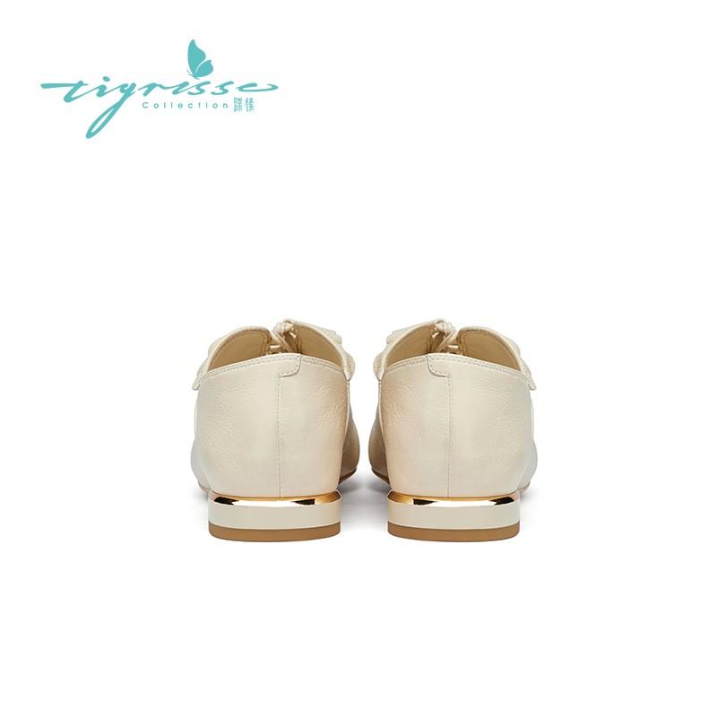 法式复古软底奶奶鞋舒适尖头小皮鞋