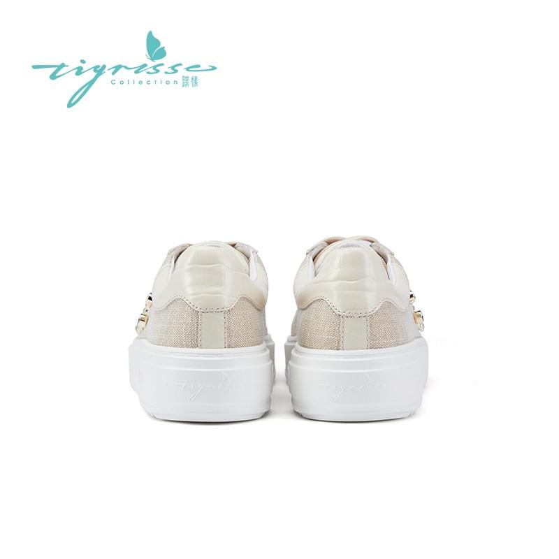 网红铆钉厚底帆布鞋轻便运动板鞋