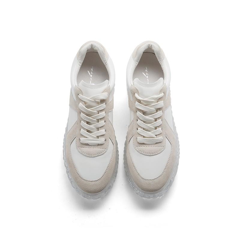 ins潮网红复古透明厚底慢跑运动鞋
