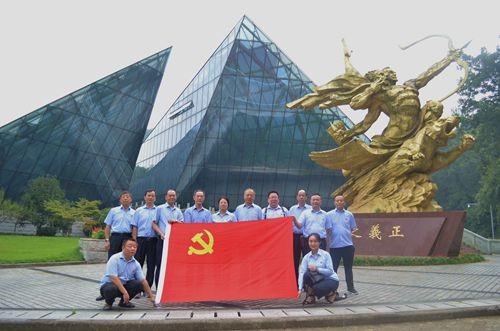 白鹭公司党支部组织党员参观南京抗日航空烈士纪念馆,开展红色主题教育活动