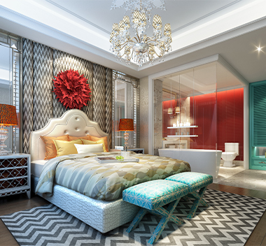 美式卧室3d模型