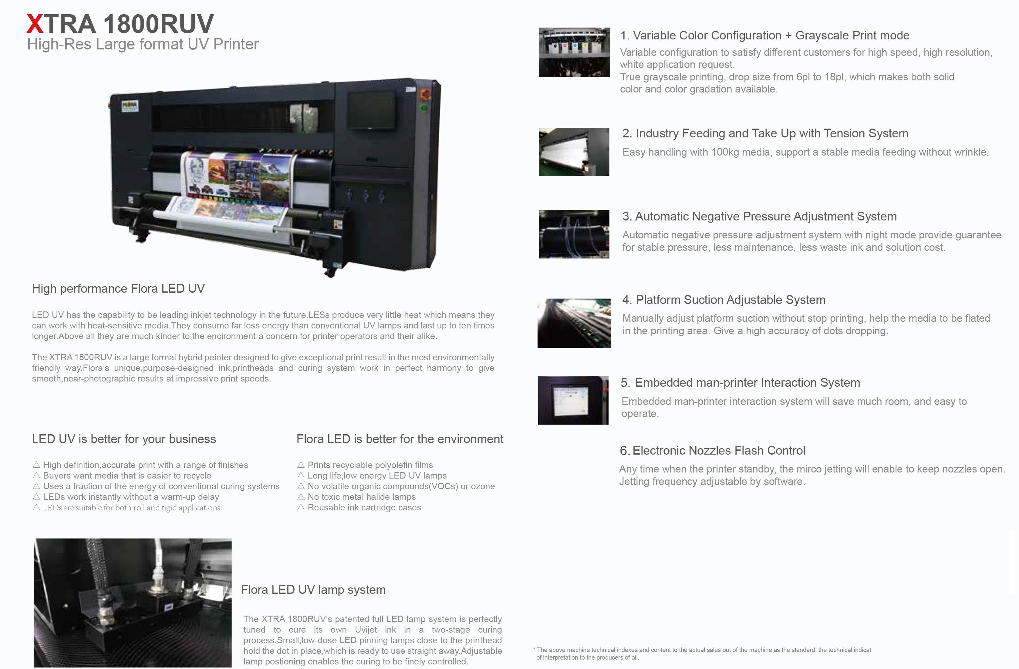 1.8m Inkjet UV Printer XTRA1800RUV