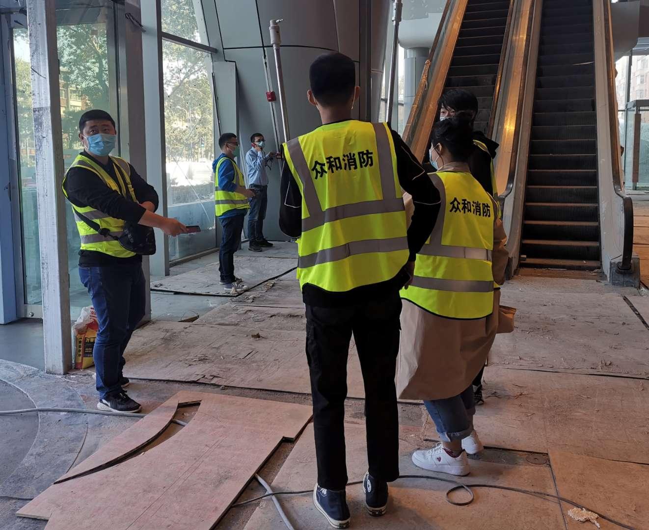 筑牢安全防线!长春国际金融中心项目消防检测进行时