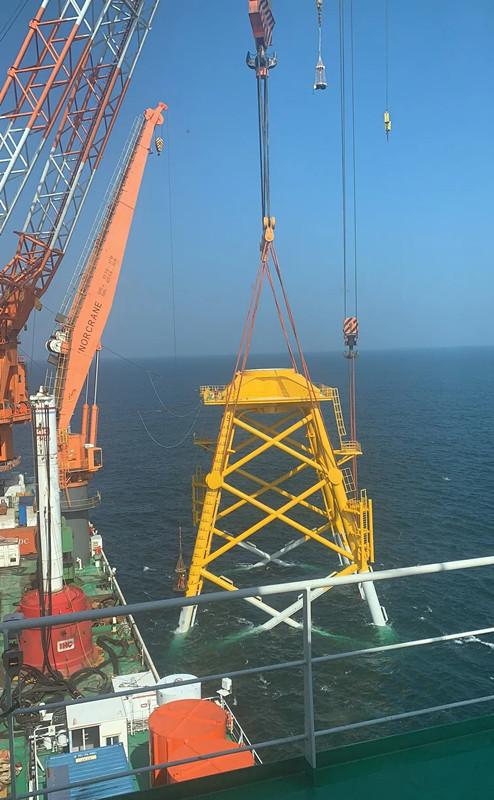国内最大海上风机导管架顺利交付