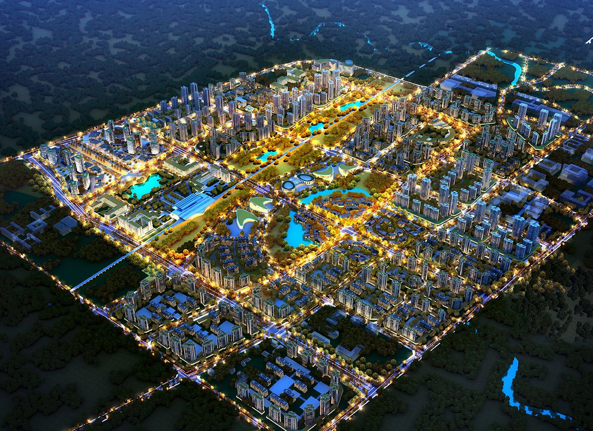 四川·兴文县空铁湖核心区城市规划设计