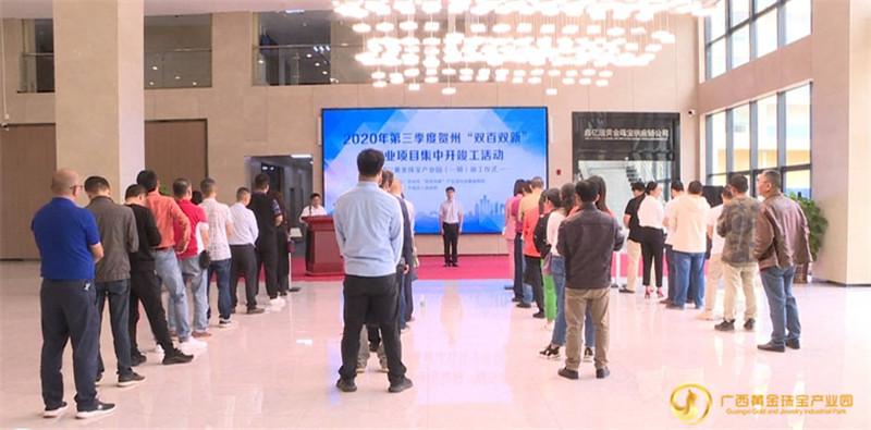 """广西黄金珠宝产业园正式纳入广西""""双百双新""""产业项目"""