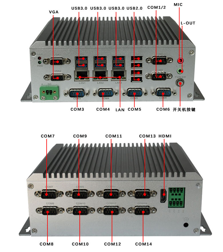 GA-B1701嵌入式工控机