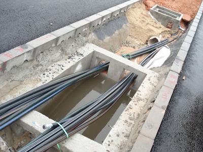 室外光缆敷设