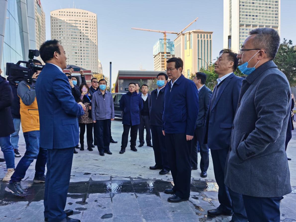 长春市政府领导视察长春国际金融中心项目