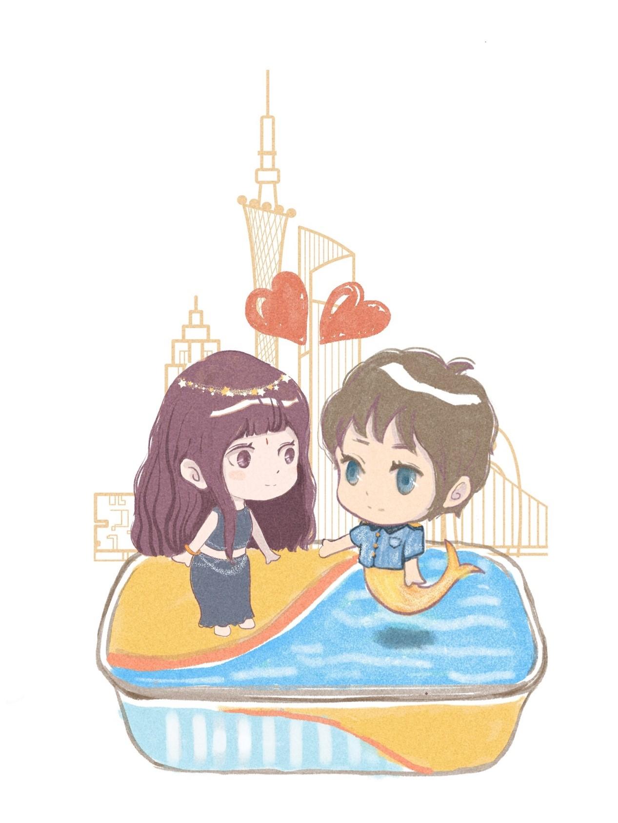 海洋王子和西亚美女的甜蜜邂逅