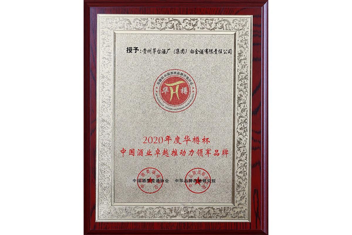 華樽杯中國酒業卓越推動力領軍品牌