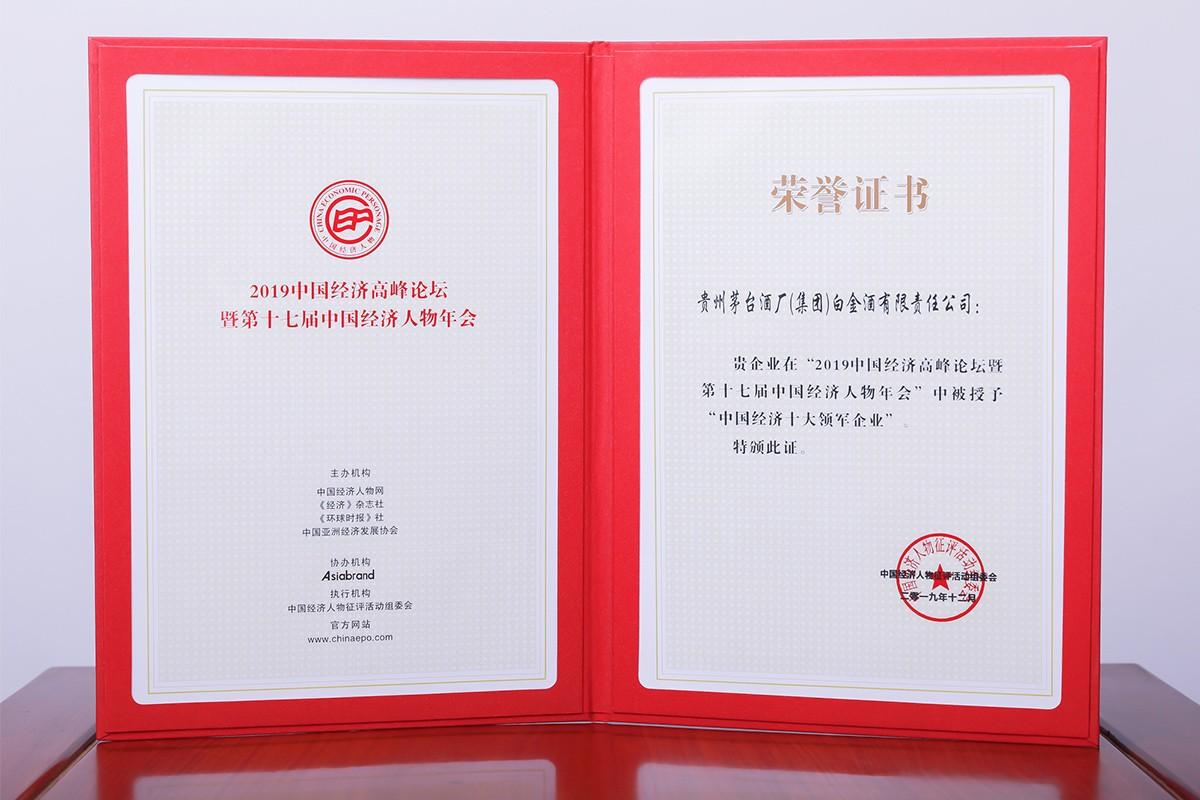 2019中國經濟十大領軍企業