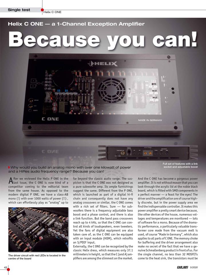 绝对顶级!德国HELIX C ONE单路功放,见证无庸置疑的顶尖品质和至臻音效