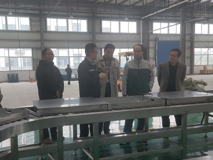 集团副总经理胡刚一行到杨凌核盛辐照公司研制指导工作