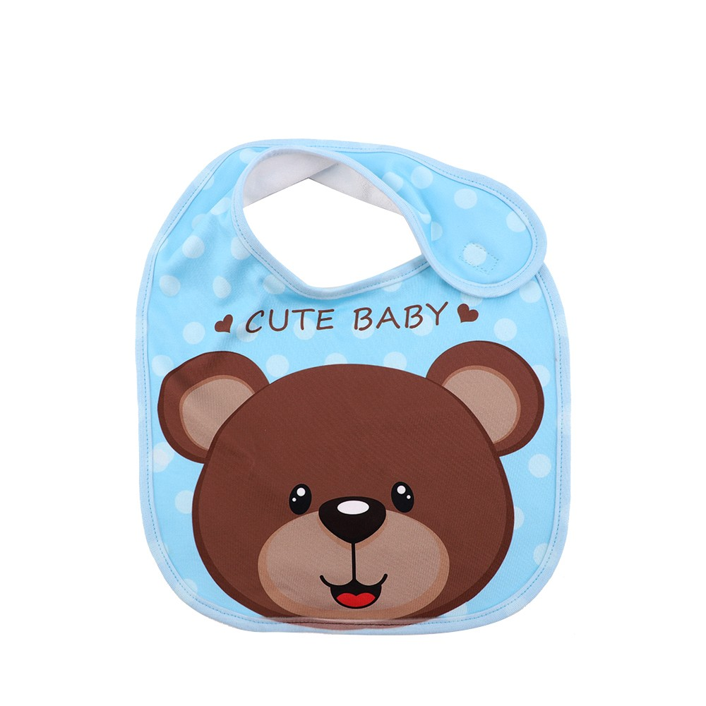 Baby Bib-Blue-Dual Layer(Cotton&Polyester)