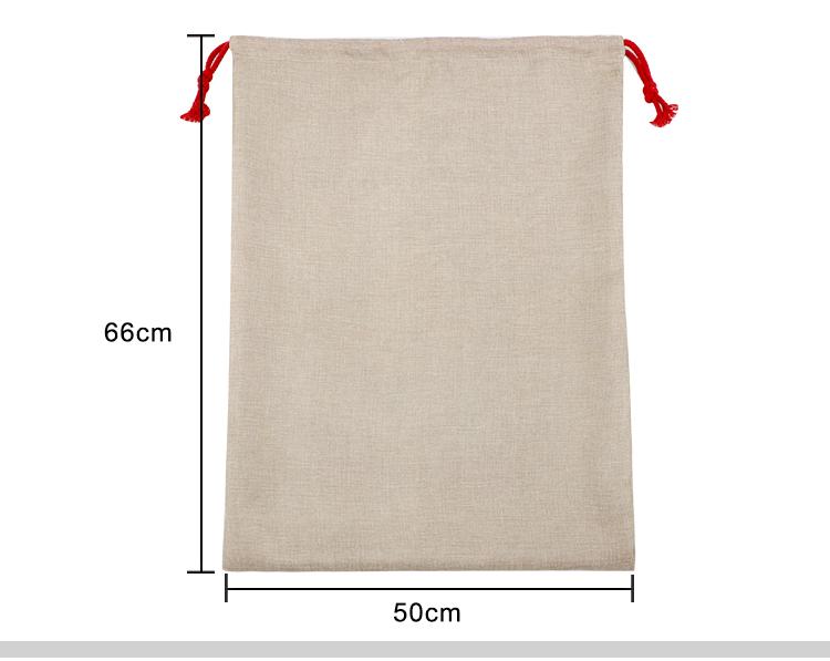 size for sublimation burlap sack