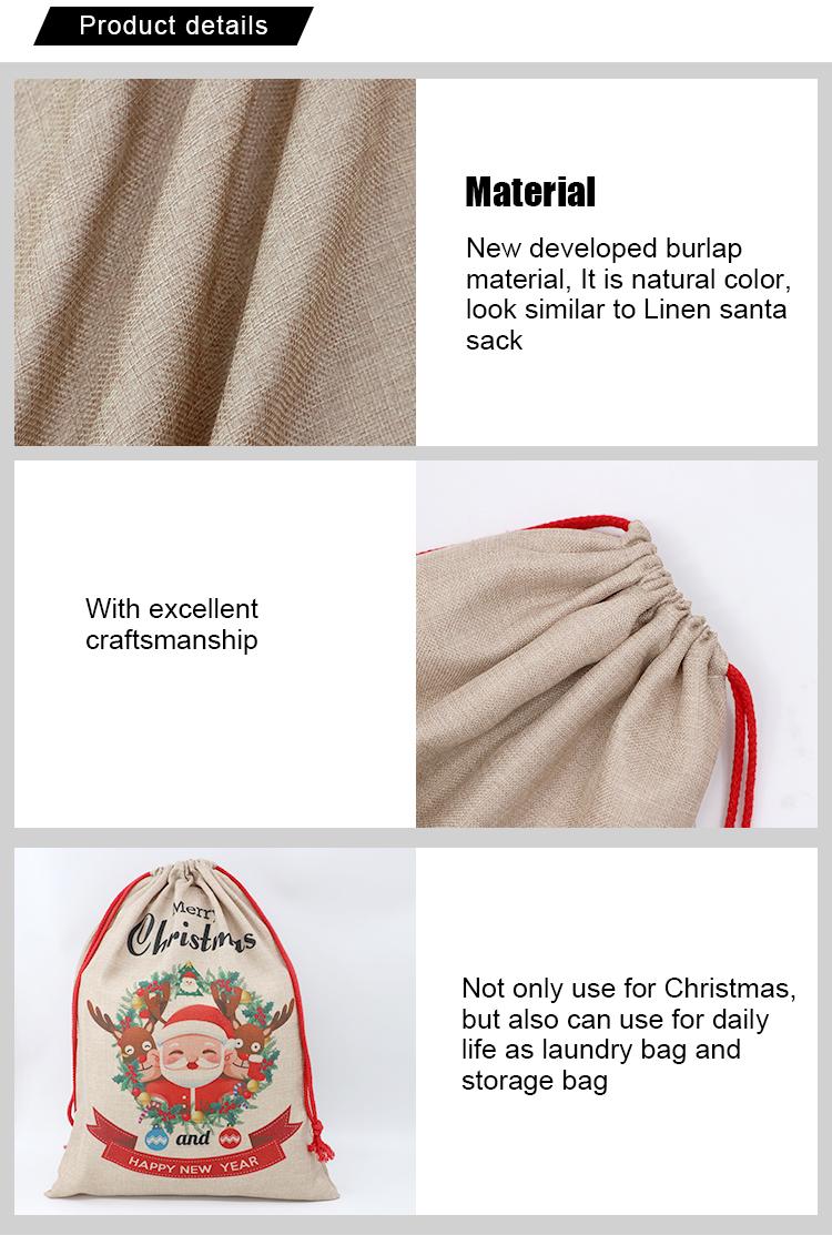details for burlap sack