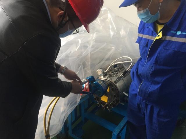 进口液压扳手助力某特变电客户