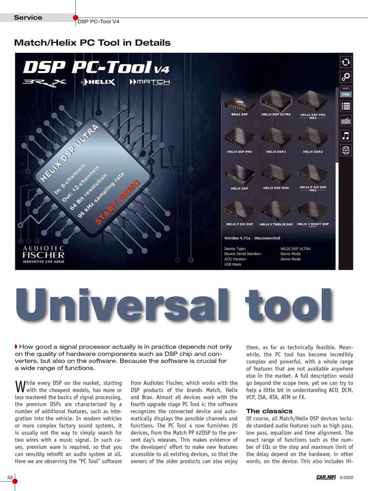 欧洲权威杂志《Car & HiFi》高度评价,为什么说DSP PC-Tool V4软件领先市场、独一无二?
