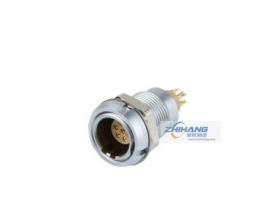 ZCA双螺母固定插座(焊接针)