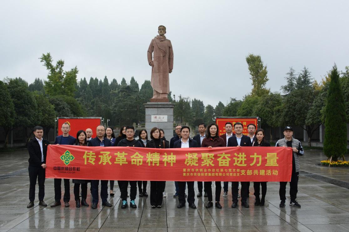 农信集团党总支与市总社第七党支部联合开展主题党日活动