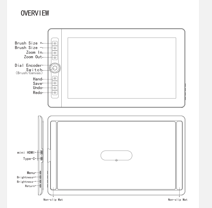 Manual of Pen Display 16HD PRO