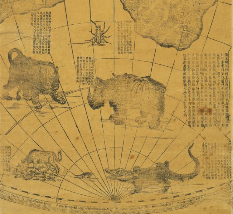 17世纪,一个外国人为康熙画了这样一张地图