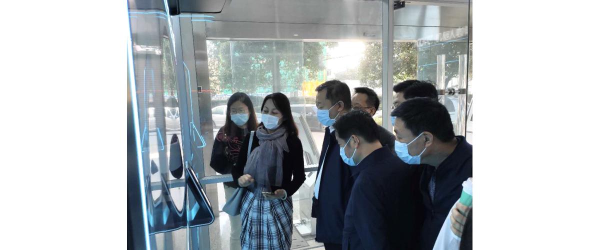 湖北省黄冈市董波市长带队,专程视察指导机器人咖啡亭cofe+