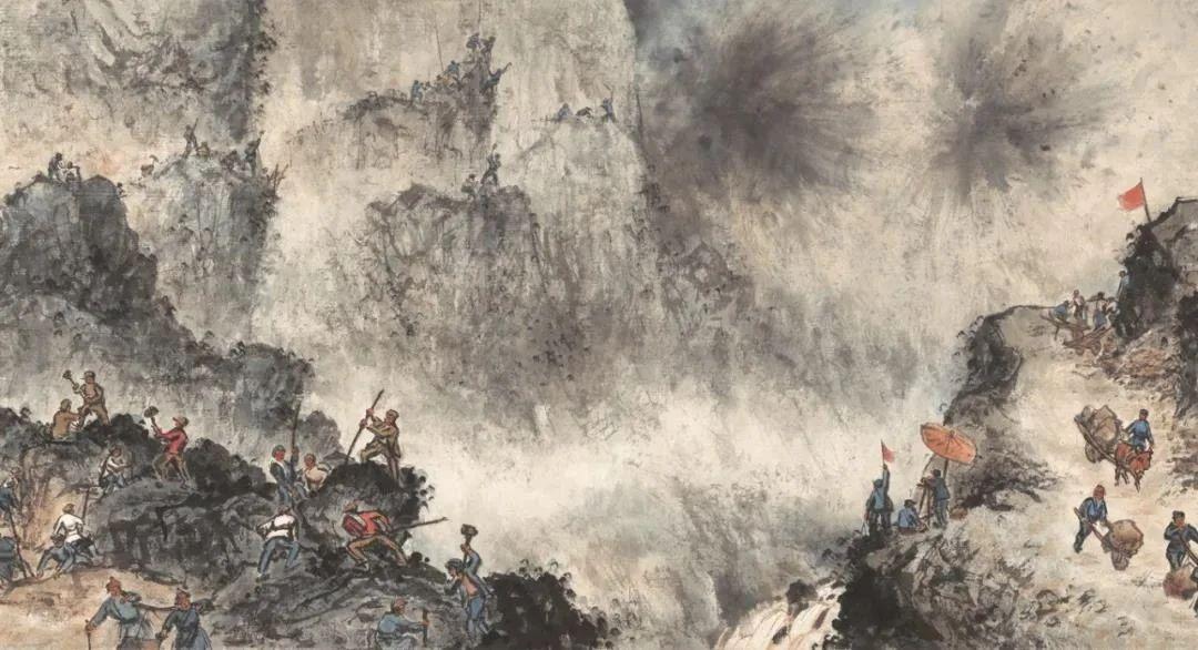 他偷偷摸摸画15米罕见巨作震撼画坛,堪比《清明上河图》