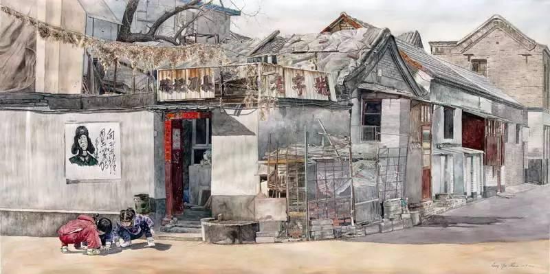 梁润湛丨用画笔将消逝中的胡同呈现出来,了不起!