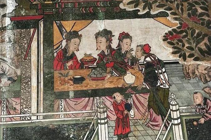 壁画里的吃吃喝喝
