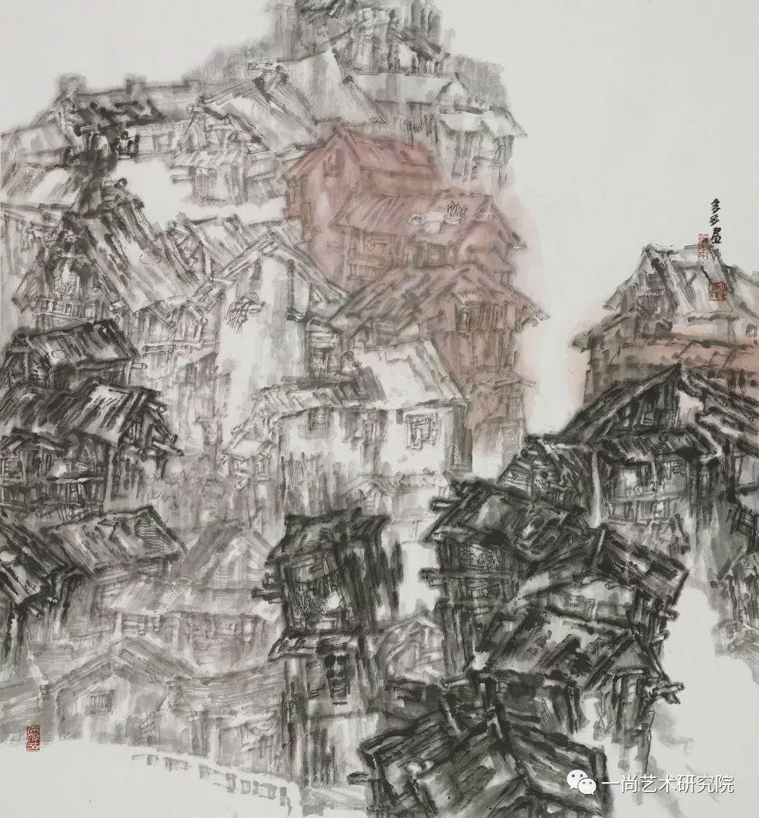 「新锐·微个展」川美| 吴多多:鲜活重庆与古城建筑的交融山水