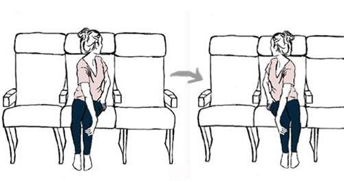 机上瑜珈,舒缓腰酸背疼很管用