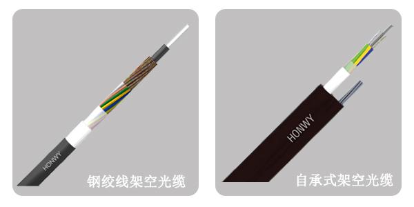钢丝线光缆与自承式光缆