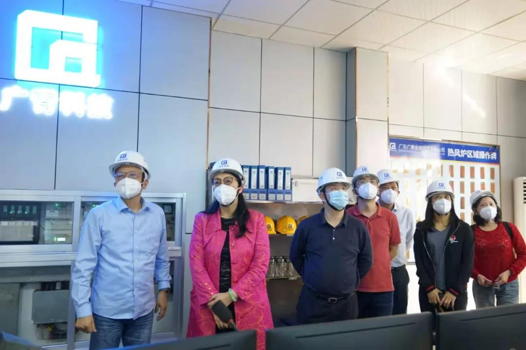 广新集团党委书记、董事长白涛带队到广青科技考察调研