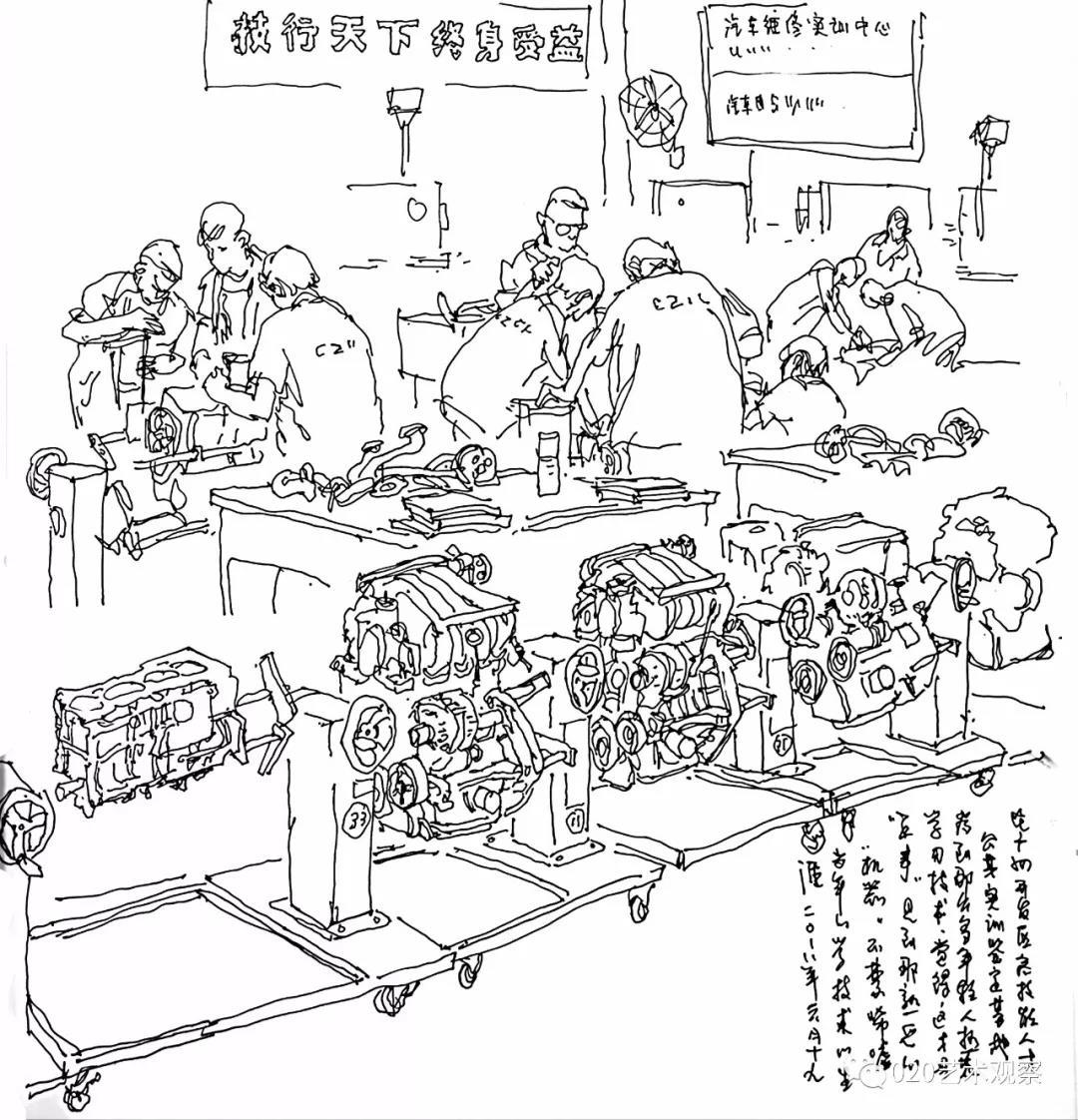 时代•生活——第四届广州速写作品展入选名单︱速写走进黄埔,了解时代高科技