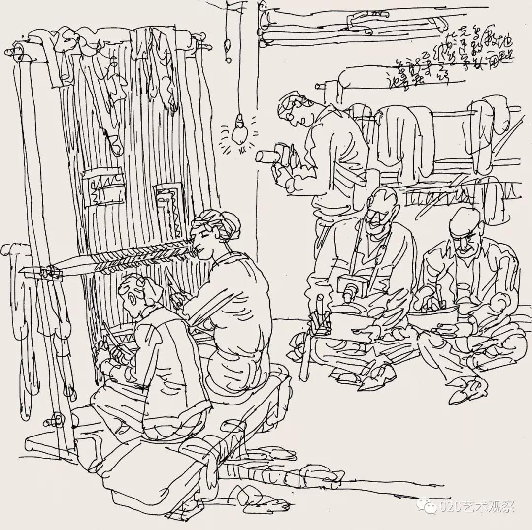 时代•生活——第四届广州速写作品展7月19日11时在广州市黄埔区图书馆开幕