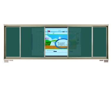 智能教育交互平板+ 框式推拉书写板 CB8CT (86寸电容屏) / CB8IT(86寸红外屏)