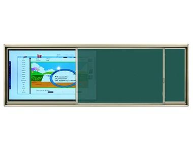 智能教育交互平板+ 框式推拉绿板 CB8CT (86寸电容屏) / CB8IT(86寸红外屏)