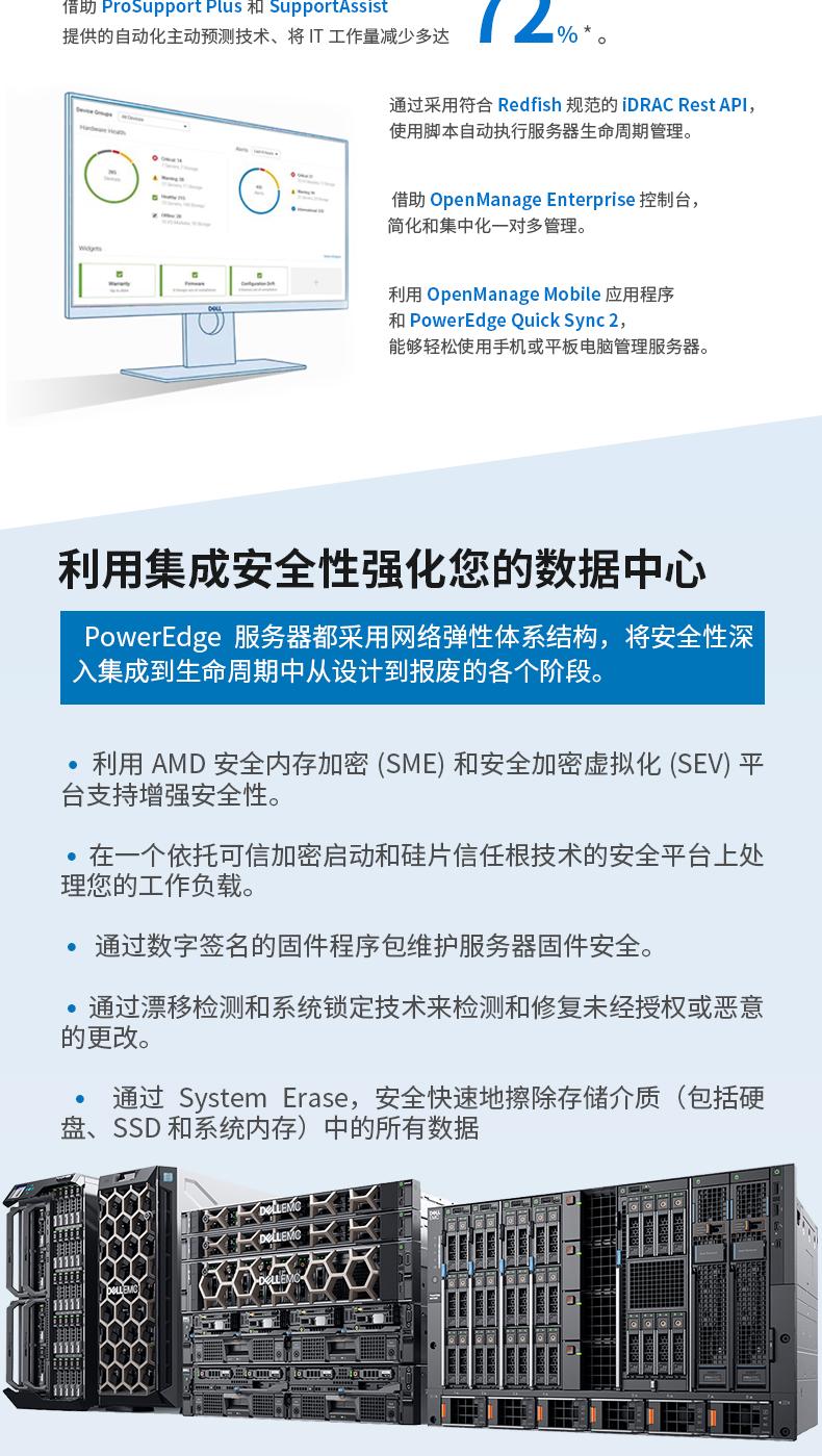 戴尔(DELL)R7515/R7525机架式服务器AMD EPYC霄龙服务器主机CPU 7402/7302区块链filecoin挖矿虚拟货币IPFS