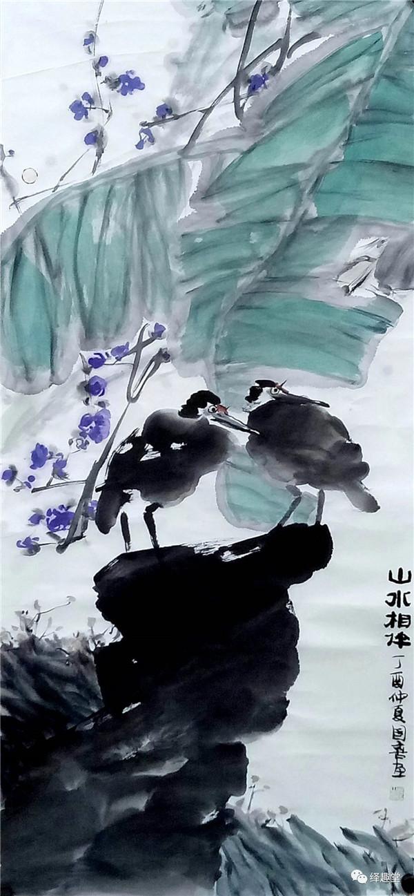 作品创作欣赏-涂国喜的花鸟情