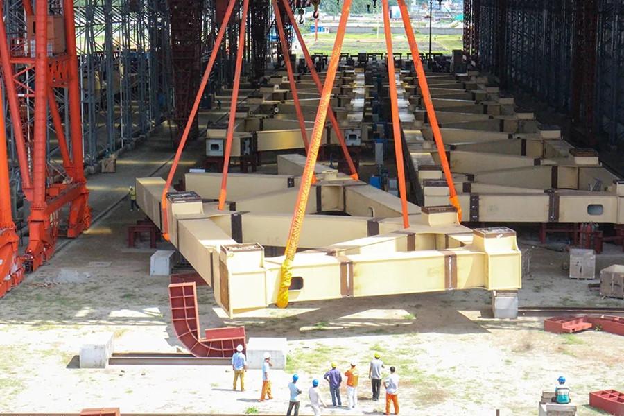 """""""一带一路""""上最大桥梁工程——帕德玛大桥成功合龙"""